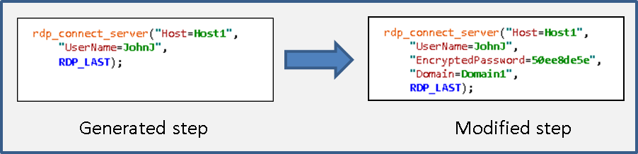 Setting Security Levels in RDP Vuser Scripts