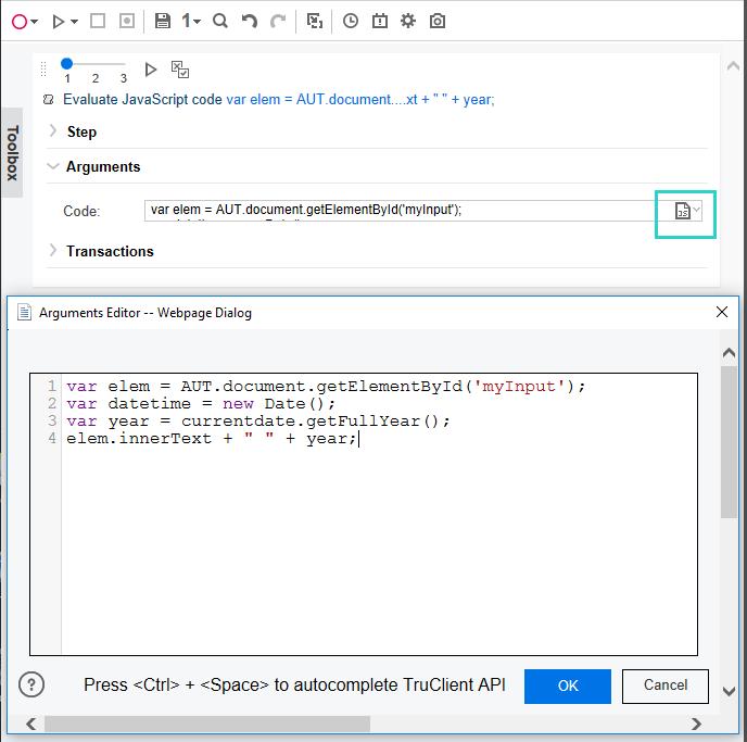 Using custom JavaScript and C code